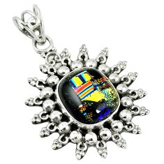 Clearance Sale- roic glass 925 sterling silver pendant jewelry d7501