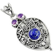Clearance Sale-  lapis lazuli amethyst pendant jewelry d7564
