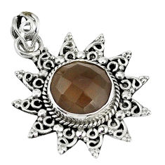 Clearance Sale- z round 925 sterling silver pendant jewelry d7572