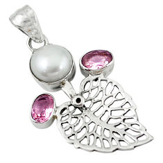 Clearance Sale- ) 925 silver deltoid leaf pendant jewelry d7712