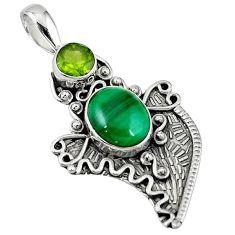 stone) peridot 925 silver pendant jewelry d7733
