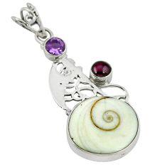 Clearance Sale- iva eye purple amethyst 925 sterling silver pendant d8191