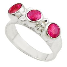 Clearance Sale- Red ruby quartz 925 sterling silver ring jewelry size 7.5 d10903