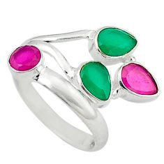 Clearance Sale- 5 silver adjustable ring size 8 d13764