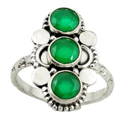 Clearance Sale- Green emerald quartz 925 sterling silver ring jewelry size 8.5 d14324