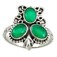 Clearance Sale- Green emerald quartz 925 sterling silver ring jewelry size 9 d14325