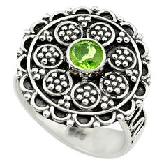 Clearance Sale- Natural green peridot 925 sterling silver ring jewelry size 8 d14407