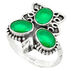 Clearance Sale- Green emerald quartz 925 sterling silver ring jewelry size 7 d1523