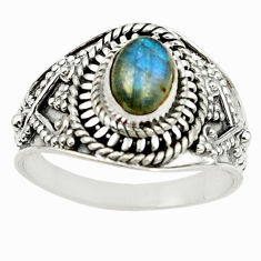 Clearance Sale- 925 sterling silver natural blue labradorite ring jewelry size 8 d15285