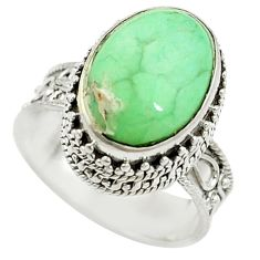 Natural green variscite 925 sterling silver ring jewelry size 7 d15314