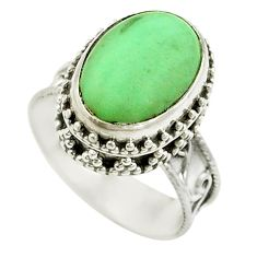 925 sterling silver natural green variscite ring jewelry size 7.5 d15316