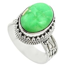 Natural green variscite 925 sterling silver ring jewelry size 8 d15318
