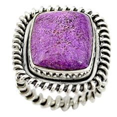 Natural purple purpurite 925 sterling silver ring jewelry size 5 d15381