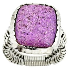 Natural purple purpurite 925 sterling silver ring jewelry size 6.5 d15383