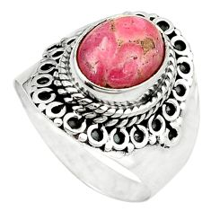 Clearance Sale- Rhodochrosite Ring size 7 (925 sterling silver) jewelry D1568