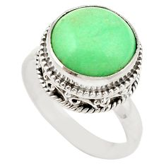 925 sterling silver natural green variscite ring jewelry size 8.5 d19077