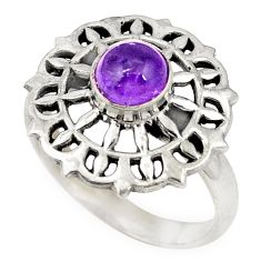Natural purple amethyst 925 sterling silver ring jewelry size 8.5 d20698