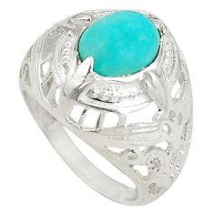 Clearance Sale- 925 sterling silver natural green peruvian amazonite ring size 7 d20745