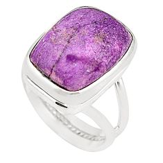 Natural purple purpurite 925 sterling silver ring jewelry size 6 d20789