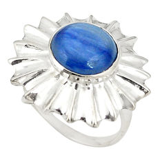 Clearance Sale- Natural blue kyanite 925 sterling silver ring jewelry size 6 d20821