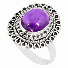 Clearance Sale- Natural purple amethyst 925 sterling silver ring jewelry size 8 d22794