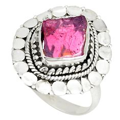 925 sterling silver natural red garnet rough ring jewelry size 7.5 d22815