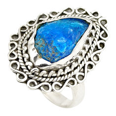 925 sterling silver blue apatite rough fancy ring jewelry size 6.5 d24789