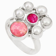 al pink rhodochrosite inca rose (argentina) ring size 6.5 d24978