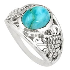Natural blue larimar 925 sterling silver ring jewelry size 6.5 d25008