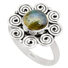 radorite 925 sterling silver ring jewelry size 8.5 d25046