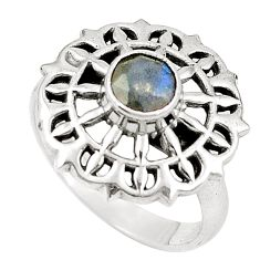 Clearance Sale- Natural blue labradorite 925 sterling silver ring jewelry size 7.5 d26007