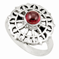 Clearance Sale- Natural red garnet 925 sterling silver ring jewelry size 8 d26009