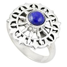Clearance Sale- Natural blue lapis lazuli 925 sterling silver ring jewelry size 7.5 d26027