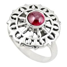 Natural red garnet 925 sterling silver ring jewelry size 7.5 d26035