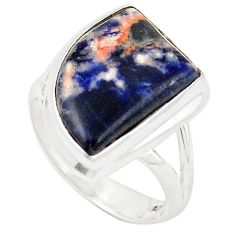 Natural orange sodalite 925 sterling silver ring jewelry size 6.5 d26250