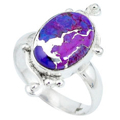 Purple copper turquoise 925 sterling silver ring jewelry size 8.5 d27171