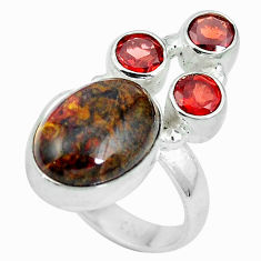 Natural black pietersite (african) 925 silver ring size 6.5 d27272
