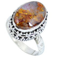 Clearance Sale- Natural black pietersite (african) 925 silver ring jewelry size 7 d27286