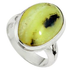 Clearance Sale- Natural yellow opal 925 sterling silver ring jewelry size 7 d27358