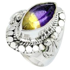 Multi color ametrine (lab) 925 sterling silver ring jewelry size 7 d27432