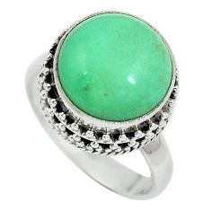 Natural green variscite 925 sterling silver ring jewelry size 7 d27494