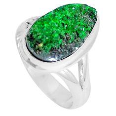 Natural green grass garnet 925 sterling silver ring size 6.5 d27982