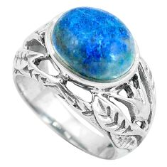 Natural blue shattuckite 925 sterling silver ring jewelry size 6 d28863