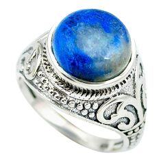Clearance Sale- Natural blue shattuckite 925 sterling silver ring jewelry size 7 d28878