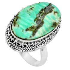Natural green variscite 925 sterling silver ring jewelry size 7 d29012