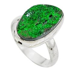 925 sterling silver natural green grass garnet ring jewelry size 7 d29164