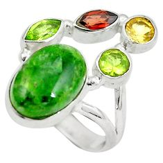 Clearance Sale- Natural purple chrome diopside (hope stone) 925 silver ring size 7 d29207