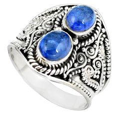 Natural blue tanzanite 925 sterling silver ring jewelry size 8 d29292