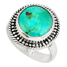 925 sterling silver natural green turquoise tibetan ring jewelry size 7 d29358