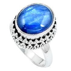 Clearance Sale- Natural blue kyanite 925 sterling silver ring jewelry size 6.5 d30487